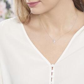 Collier Zetta Or Blanc Diamant - Bijoux Femme | Histoire d'Or