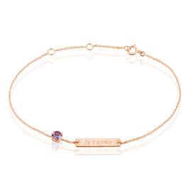 Bracelet Alessandra Or Rose Amethyste - Gourmettes Femme | Histoire d'Or