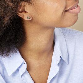 Boucles D'oreilles Puces Anise Argent Blanc Ambre - Boucles d'oreilles fantaisie Femme | Histoire d'Or