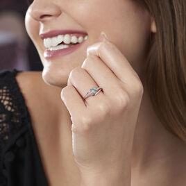 Bague Silucia Or Blanc Topaze Et Diamant - Bagues Coeur Femme | Histoire d'Or