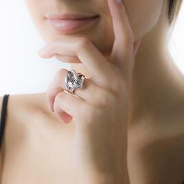 Bague Keissy Argent Blanc Oxyde De Zirconium - Bagues avec pierre Femme | Histoire d'Or