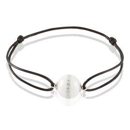 Bracelet Nina Cera Argent Blanc Céramique Et Strass - Bracelets cordon Femme | Histoire d'Or
