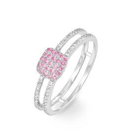 Bague Aude Or Blanc Saphir Et Diamant - Bagues avec pierre Femme | Histoire d'Or