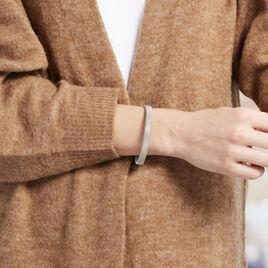 Bracelet Jonc Joncia Acier Blanc - Bracelets fantaisie Femme   Histoire d'Or