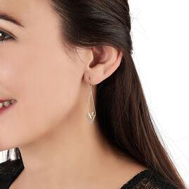 Boucles D'oreilles Pendantes Daina Or Jaune Oxyde De Zirconium - Boucles d'oreilles pendantes Femme | Histoire d'Or