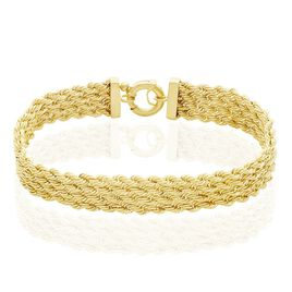 Bracelet Jerry Maille Corde 4 Rangs Or Jaune - Bracelets chaîne Femme | Histoire d'Or