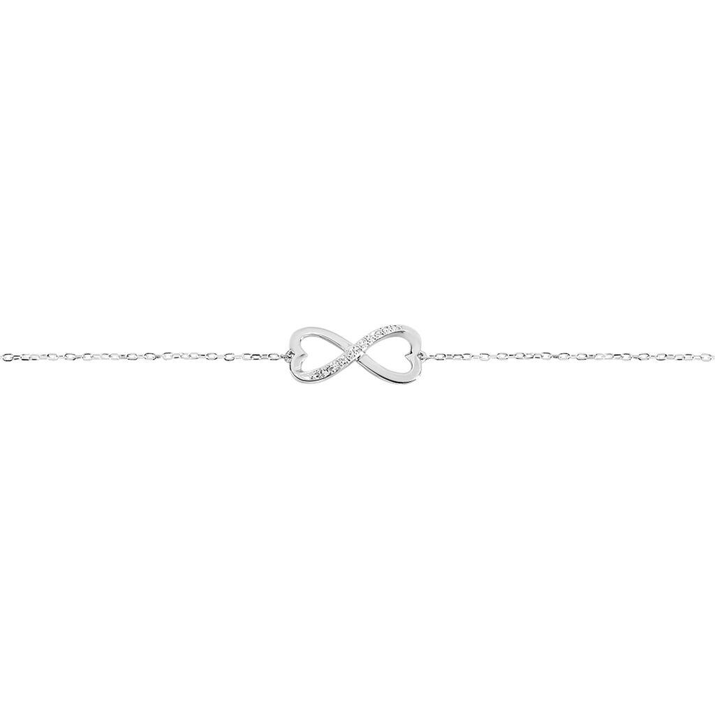 Bracelet Irmela Or Blanc Diamant - Bracelets Coeur Femme | Histoire d'Or