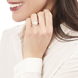 Bague Olivia Argent Blanc Perle De Culture Et Oxyde De Zirconium - Bagues avec pierre Femme | Histoire d'Or