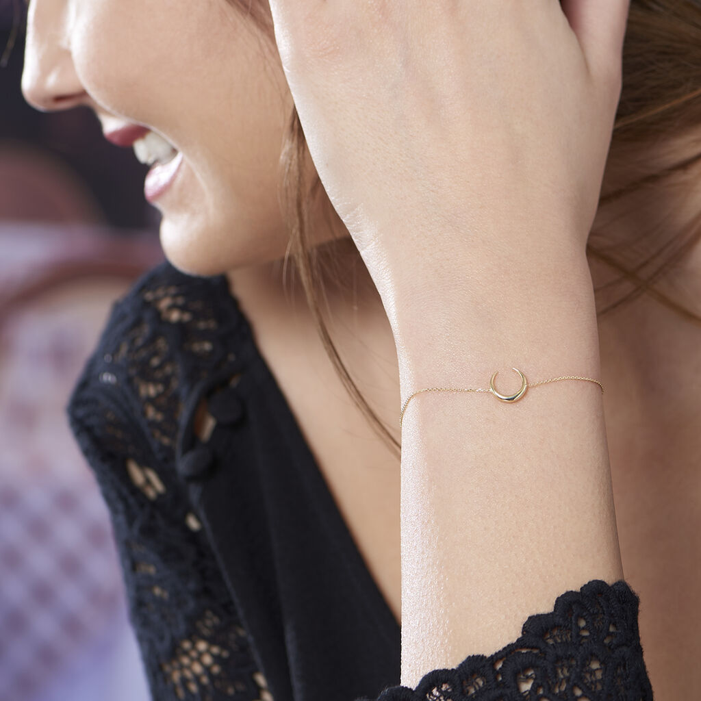 Bracelet Sergeline Or Jaune - Bracelets Lune Femme   Histoire d'Or