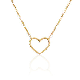 Collier Saona Plaque Or Jaune - Colliers Coeur Femme   Histoire d'Or