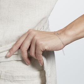 Bracelet Prot Argent Rhodié Oxyde De Zirconium - Bracelets fantaisie Femme | Histoire d'Or