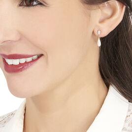 Boucles D'oreilles Pendantes Reiko Or Jaune Oxyde De Zirconium - Boucles d'oreilles pendantes Femme | Histoire d'Or