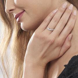 Bague Aglae Or Blanc Oxyde De Zirconium - Bagues avec pierre Femme | Histoire d'Or