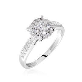 Bague Or Blanc  Shirlene Diamant Synthetique - Bagues avec pierre Femme | Histoire d'Or