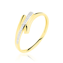 Bague Melia Or Jaune Diamant - Bagues avec pierre Femme   Histoire d'Or