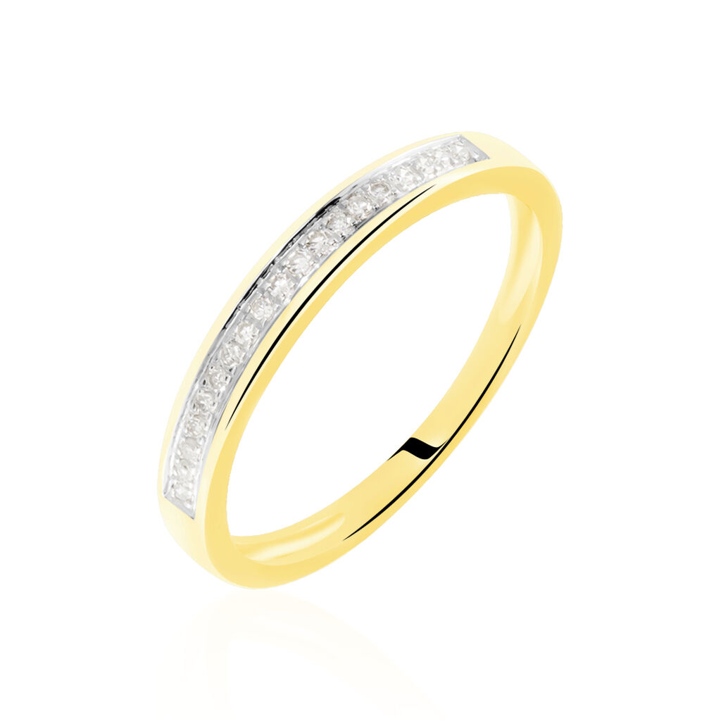 Alliance Aileen Or Jaune Diamant - Alliances Femme | Histoire d'Or
