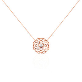 Collier Renaude Or Rose Diamant - Bijoux Femme | Histoire d'Or