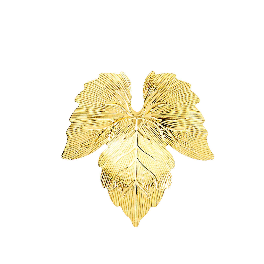 Broche Michalina Feuille Or Jaune