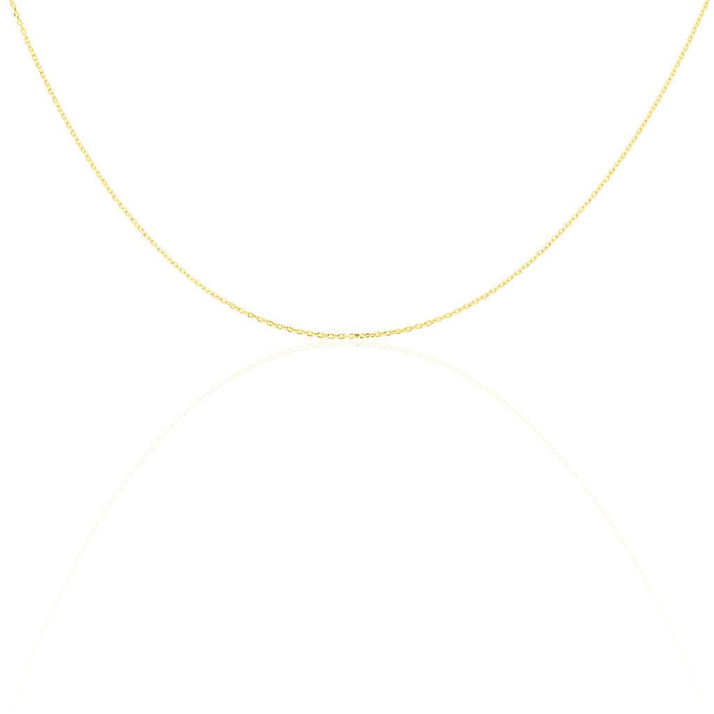 Chaîne Igoa Maille Forçat Diamantee Or Jaune - Colliers Naissance Enfant | Histoire d'Or