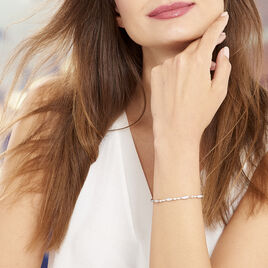 Bracelet Evy Argent Blanc Oxyde De Zirconium - Bijoux Femme | Histoire d'Or