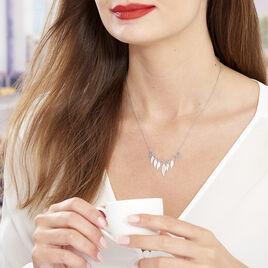 Collier Alli Argent Blanc - Colliers Plume Femme | Histoire d'Or