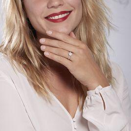 Bague Or Blanc  Chouchana Diamant Synthetique - Bagues avec pierre Femme   Histoire d'Or