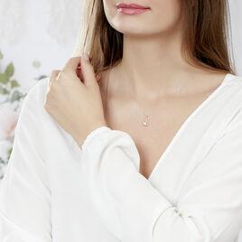 Collier Or Jaune Vagues Solitaire Oxyde - Bijoux Femme | Histoire d'Or