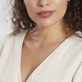 Pendentif Koulmia Trefle Diamante Or Blanc - Pendentifs Trèfle Femme   Histoire d'Or