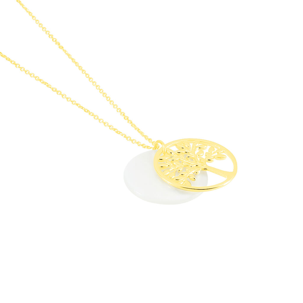 Collier Noamie Or Jaune Nacre - Colliers Arbre de vie Femme   Histoire d'Or