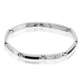 Bracelet Patrick Acier Blanc - Bracelets fantaisie Homme | Histoire d'Or