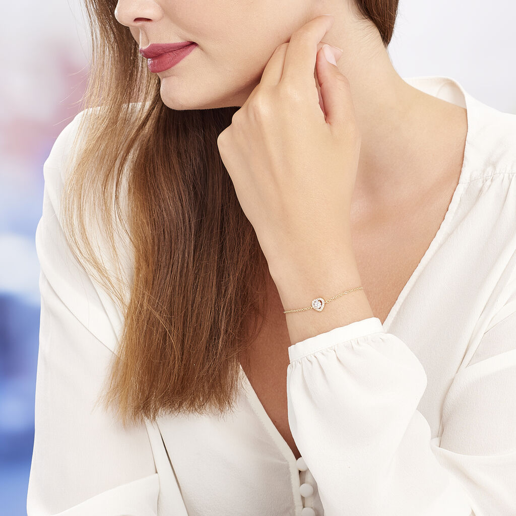 Bracelet Alais Plaque Or Jaune Oxyde De Zirconium - Bracelets fantaisie Femme | Histoire d'Or