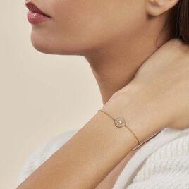 Bracelet Carmina Plaque Or Jaune Oxyde De Zirconium - Bracelets fantaisie Femme | Histoire d'Or