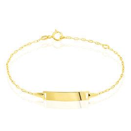 Bracelet Identité Or Jaune Gaspardine Maille Forçat - Bracelets Communion Enfant | Histoire d'Or