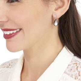 Boucles D'oreilles Pendantes Marina Cera Argent Céramique Et Oxyde - Boucles d'oreilles fantaisie Femme   Histoire d'Or