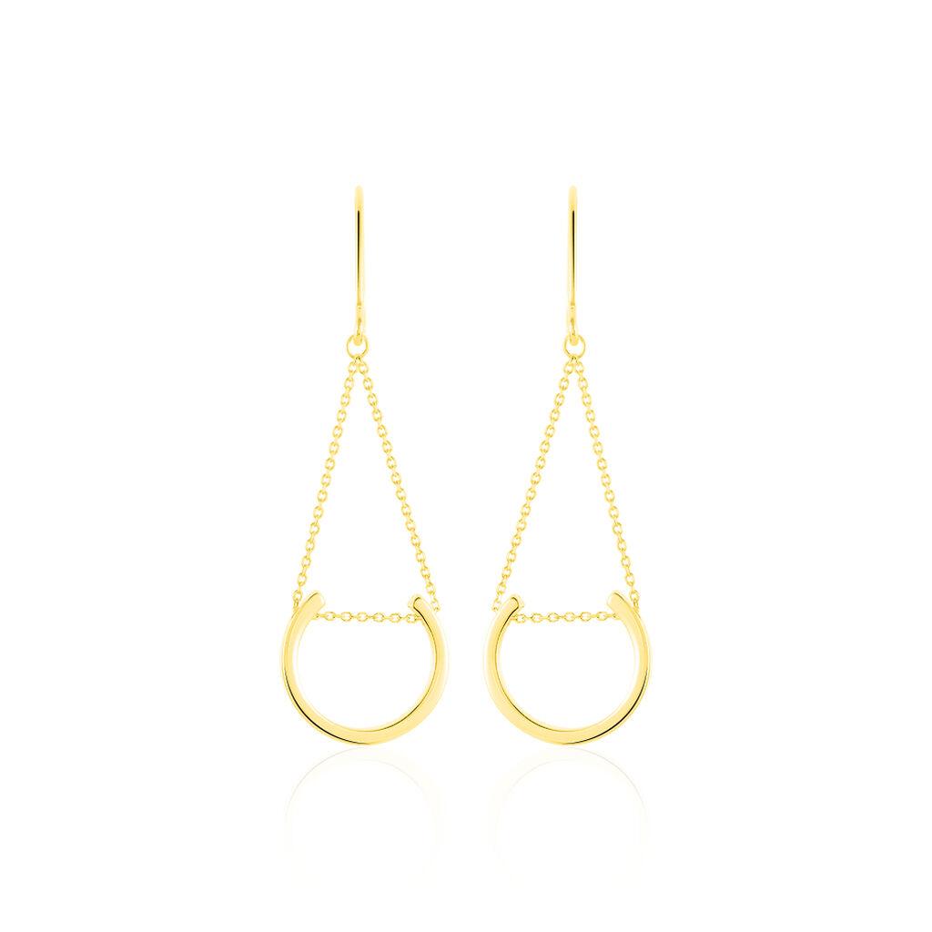 Boucles D'oreilles Pendantes Ellda Or Jaune - Boucles d'oreilles pendantes Femme   Histoire d'Or