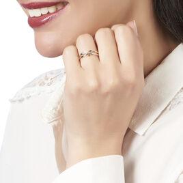 Bague Rokhya Or Tricolore Diamant - Bagues avec pierre Femme | Histoire d'Or
