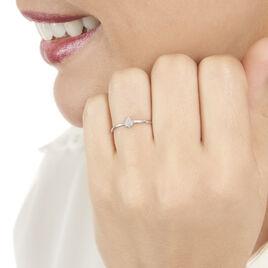Bague Adhira Or Blanc Diamant - Bagues avec pierre Femme   Histoire d'Or