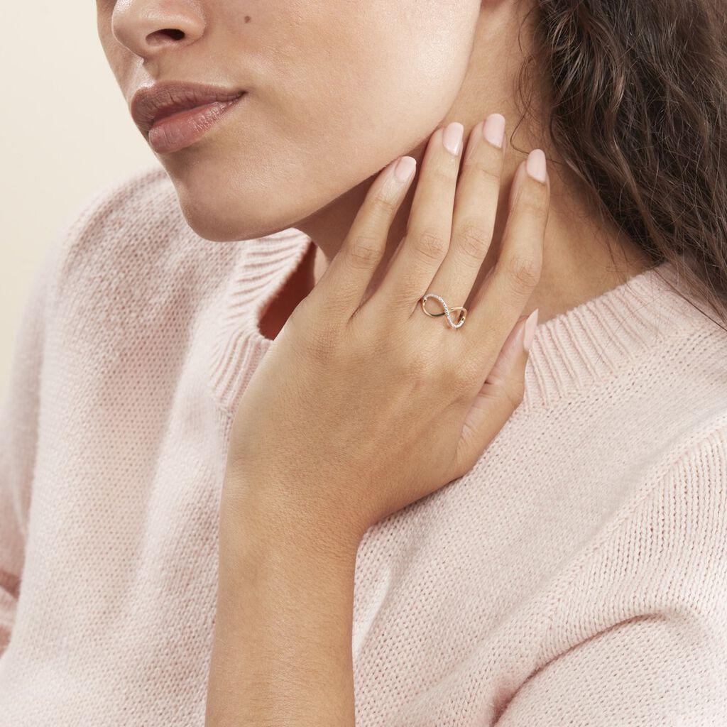Bague Varina Or Jaune Diamant - Bagues Infini Femme | Histoire d'Or