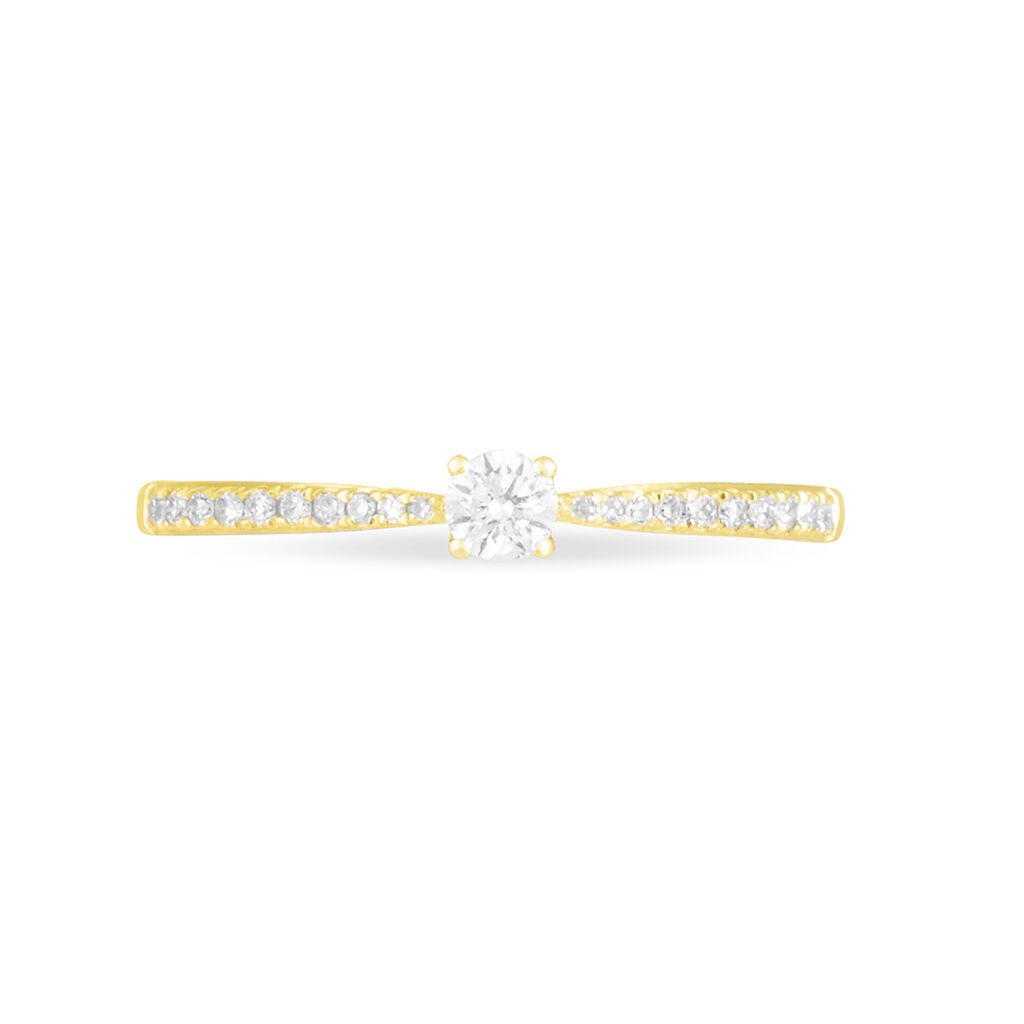 Bague Solitaire Laetitia Or Jaune Diamant