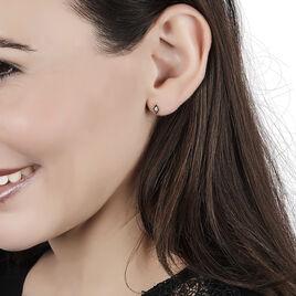 Boucles D'oreilles Puces Eirena Or Jaune Diamant - Clous d'oreilles Femme | Histoire d'Or