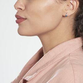 Boucles D'oreilles Pendantes Or Blanc Clothilde Topazes Oxydes - Boucles d'Oreilles Coeur Femme | Histoire d'Or