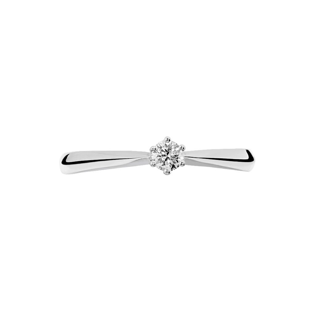 Bague Solitaire Veronika Or Blanc Diamant