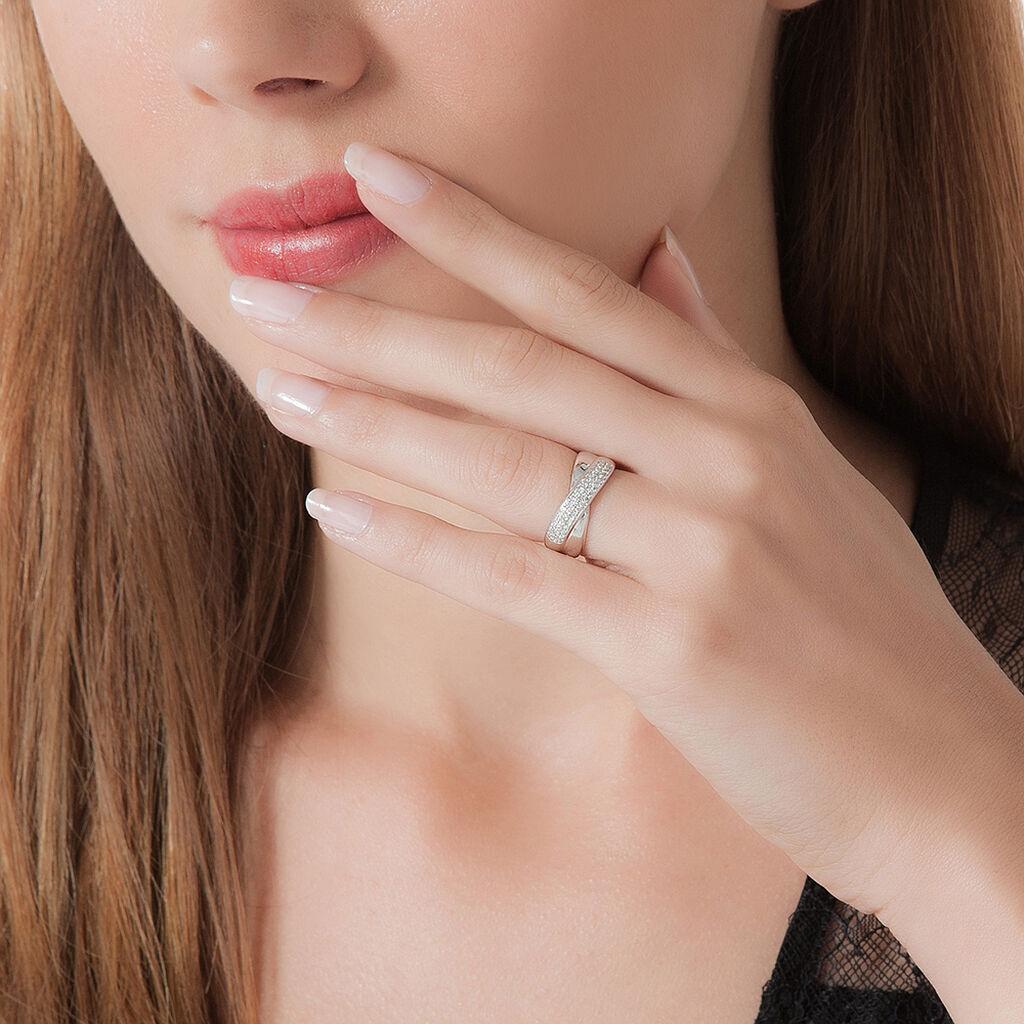 Bague Juliet Argent Blanc Oxyde De Zirconium - Bagues avec pierre Femme | Histoire d'Or