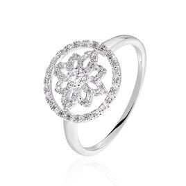 Bague Arroxa Or Blanc Diamant - Bagues avec pierre Femme | Histoire d'Or