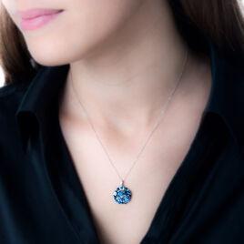 Collier Or Blanc Topaze Et Diamant Et Saphir - Bijoux Femme | Histoire d'Or