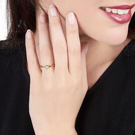 Bague Mena Plaque Or Jaune Oxyde De Zirconium - Bagues Coeur Femme | Histoire d'Or