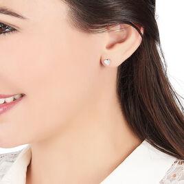 Boucles D'oreilles Pendantes Lysea Argent Blanc Oxyde De Zirconium - Boucles d'Oreilles Coeur Femme | Histoire d'Or