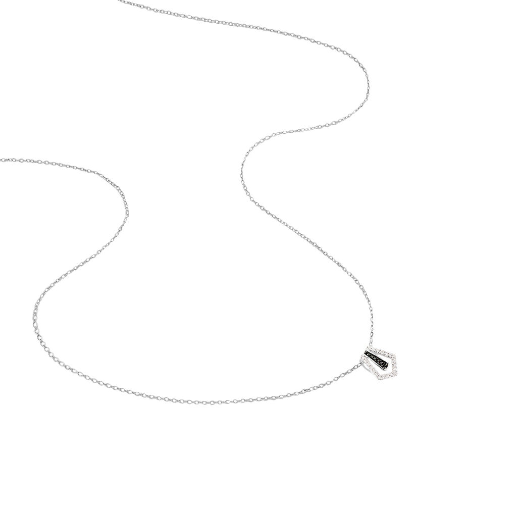 Collier Ilda Or Blanc Diamant - Bijoux Femme | Histoire d'Or