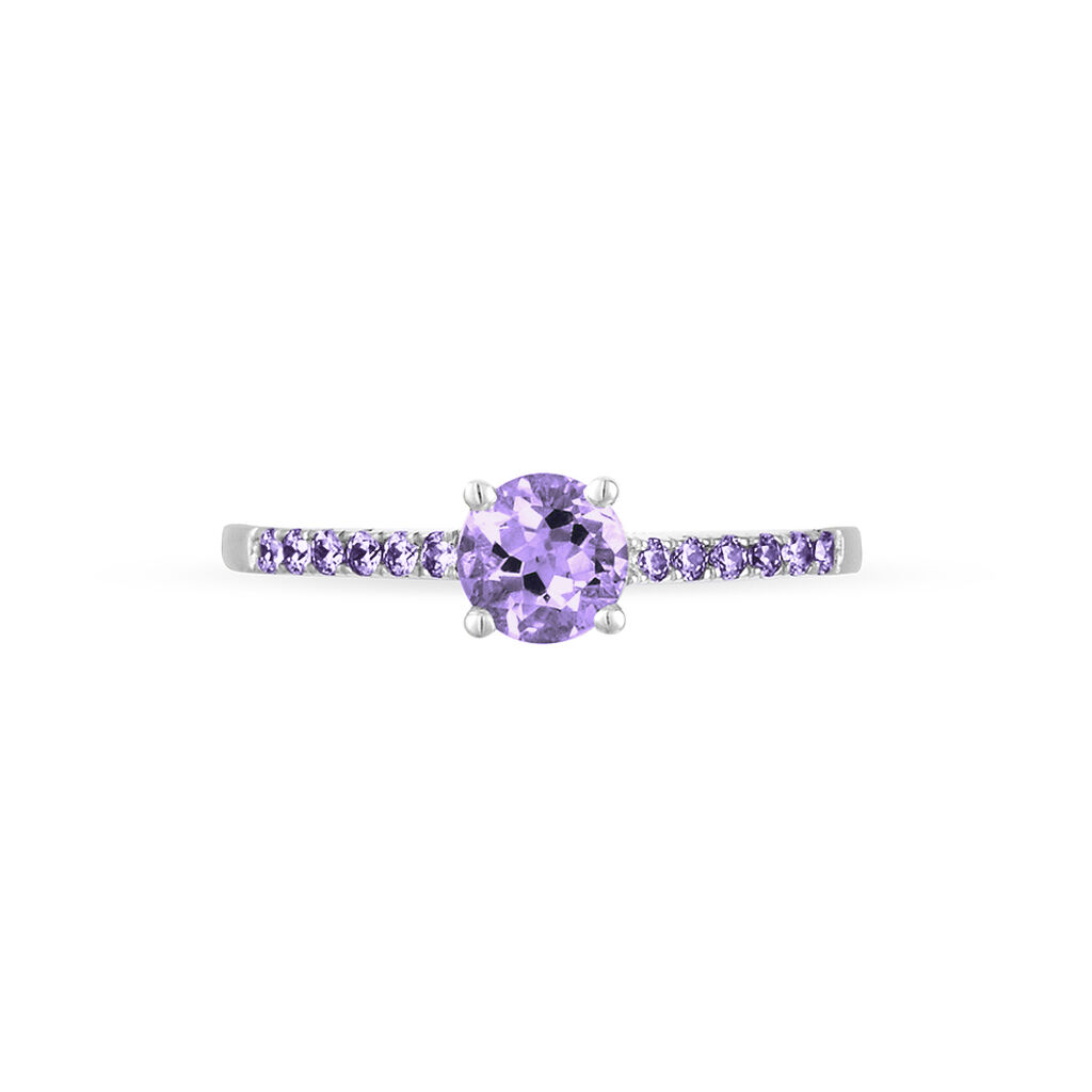 Bague Manon Or Blanc Amethyste