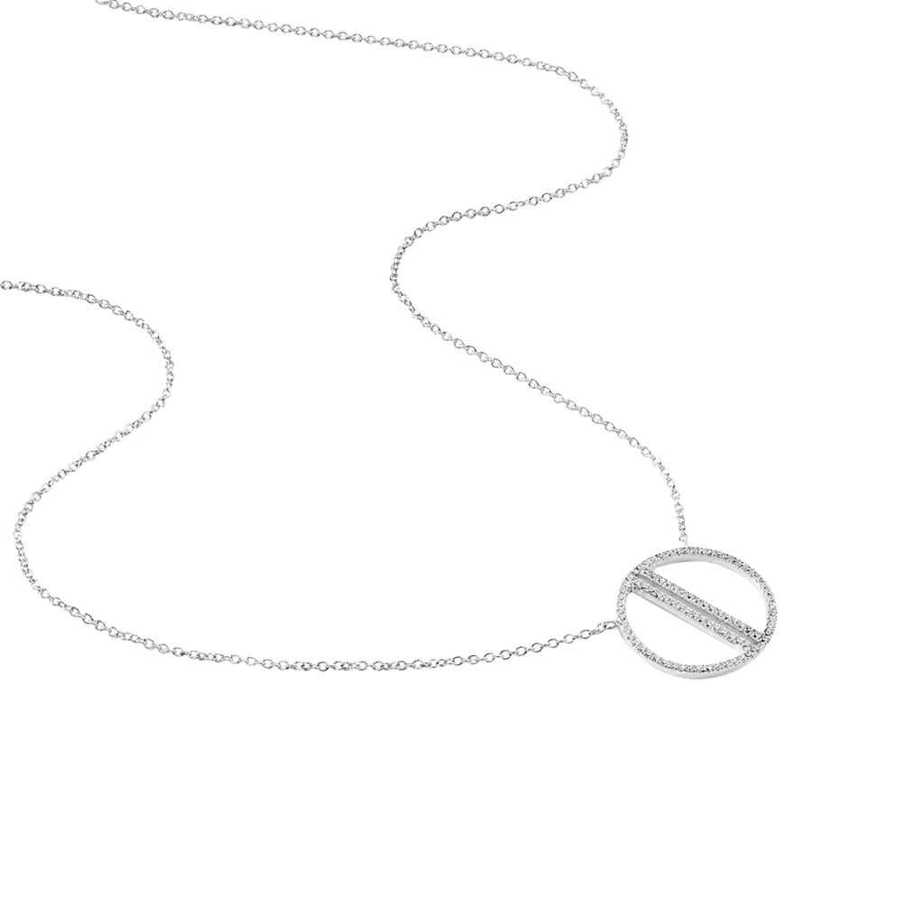 Collier Carmen Argent Blanc Oxyde De Zirconium - Colliers fantaisie Femme | Histoire d'Or